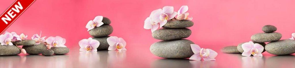 Фартуки ЛакКом 4 мм.: AG 72 Орхидеи и камни в Ателье мебели Формат