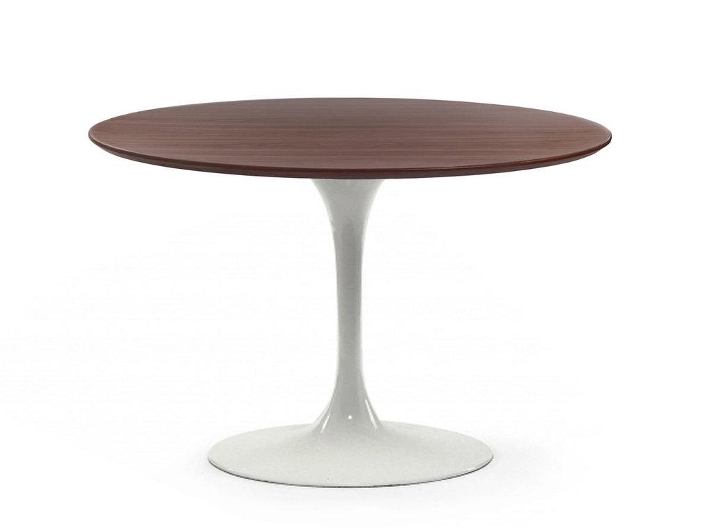 Столы обеденные: Стол обеденный Априори T круглый 100 см 13т орех в Актуальный дизайн