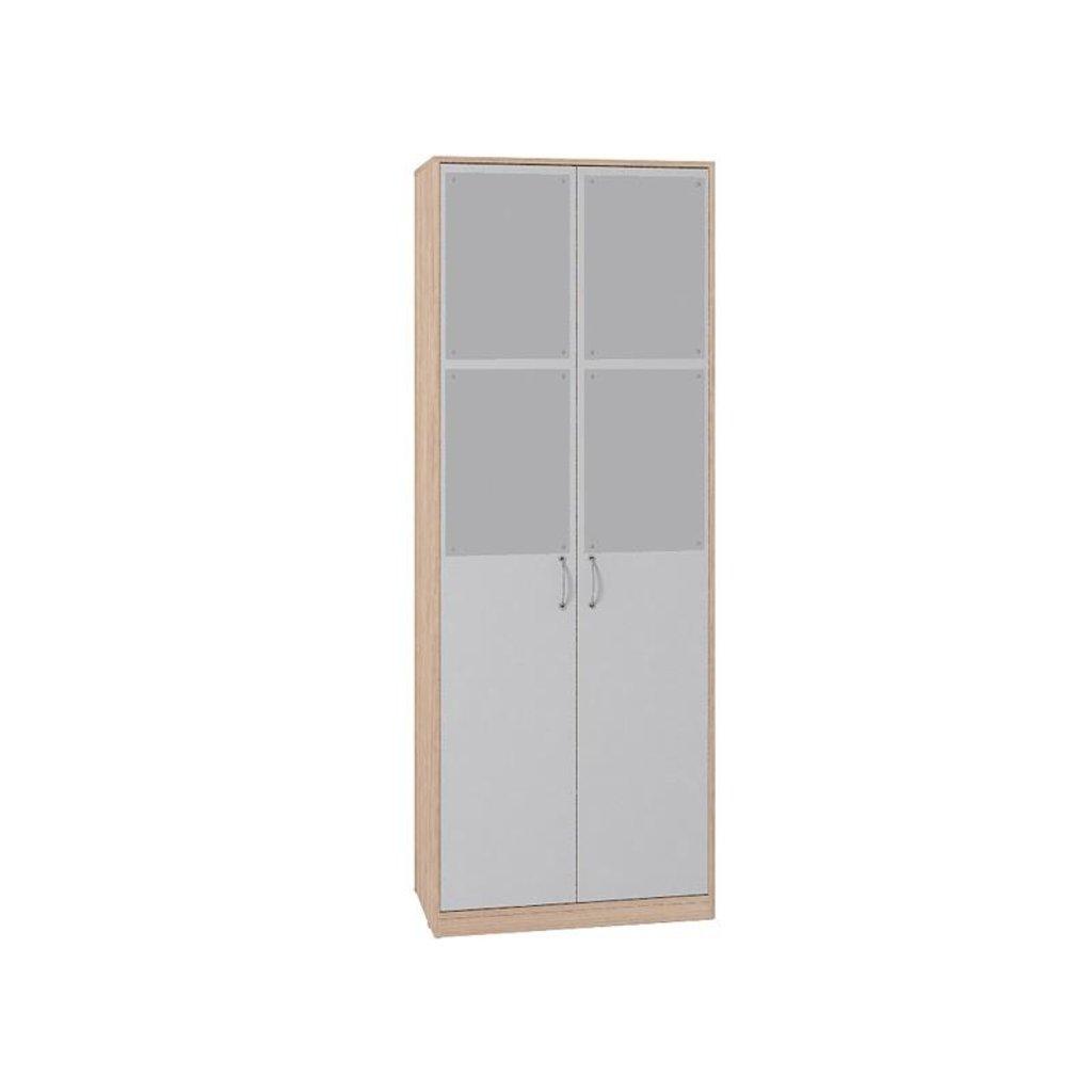 Детские шкафы и стеллажи: Шкаф для одежды Фасад Серый Калейдоскоп 6 в Стильная мебель