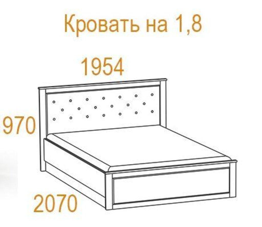 Кровати: Кровать Инфинити (1800, мех. подъема) в Стильная мебель