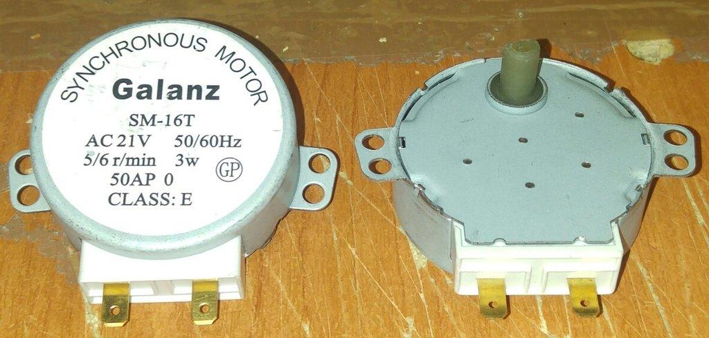Запчасти для микроволновых СВЧ-печей: Мотор вращения тарелки СВЧ AC21V 3W 5/6rpm, SM-16T, пластиковый шток MM021V03 в АНС ПРОЕКТ, ООО, Сервисный центр