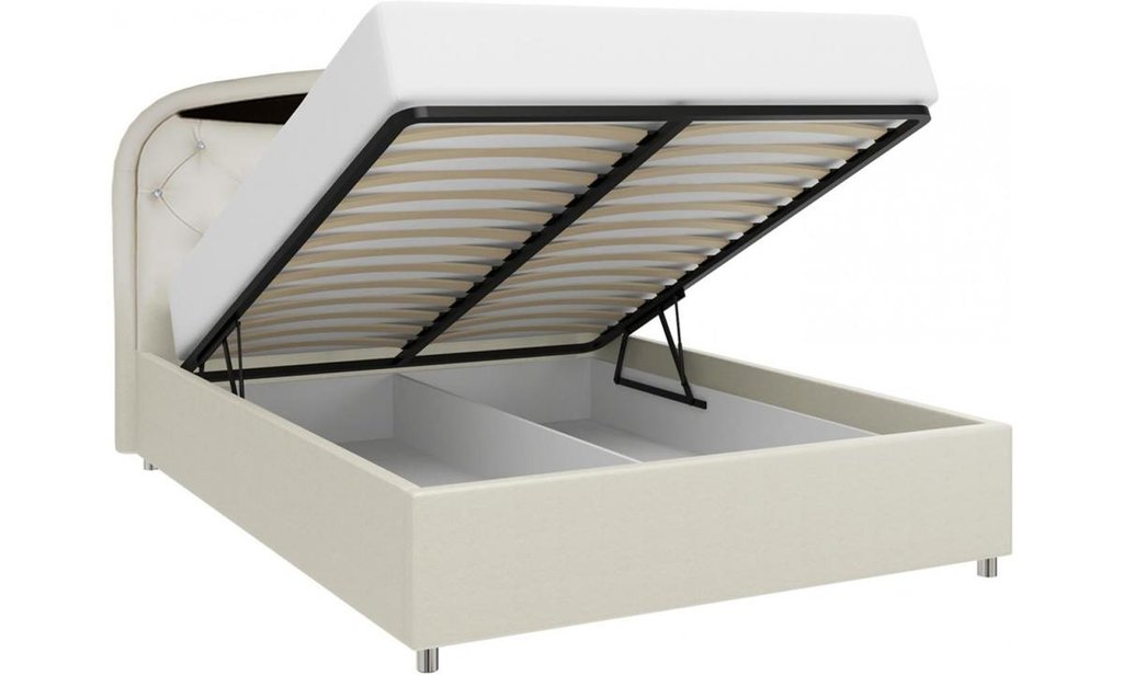 Кровати: Кровать двойная из экокожи Валенсия-1 в Уютный дом