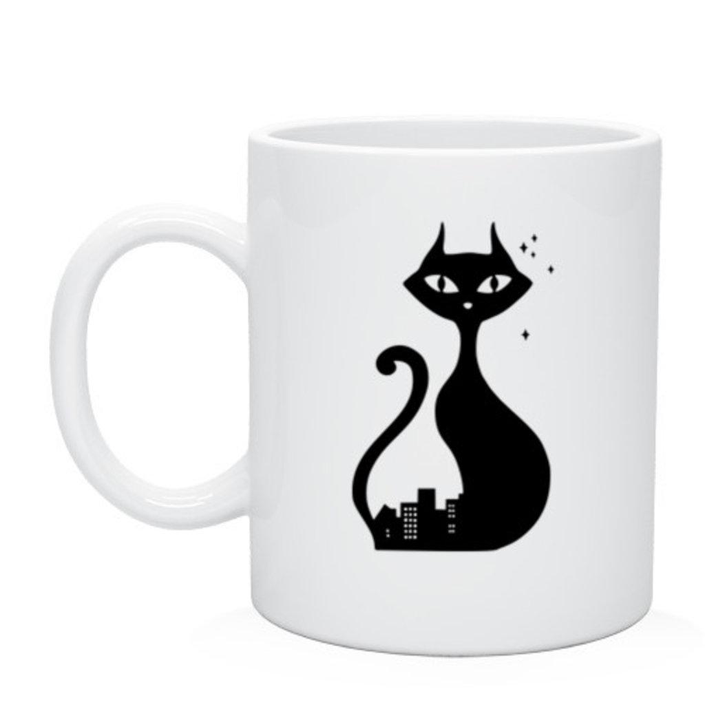 """Выбери готовый дизайн для любой кружки-заготовки: Кружка """"Cat"""" в NeoPlastic"""