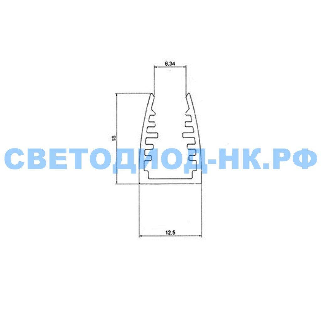 Алюминиевый профиль: Rexant Профиль для стекла алюминиевый 1813-2, 2м, 146-238 в СВЕТОВОД