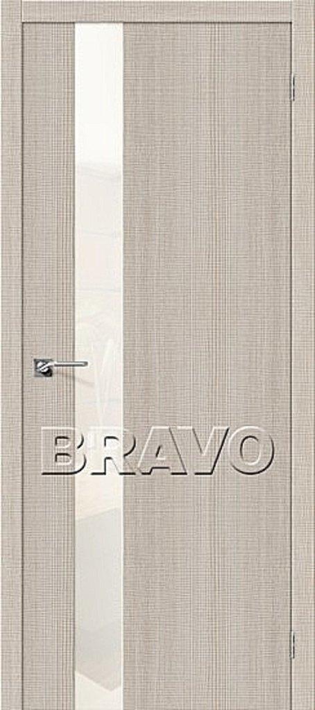 Двери экошпон BRAVO: Порта-51 WР Cappuccino Crosscut в STEKLOMASTER