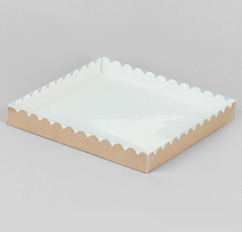 Коробки для кондитерских изделий: Коробочка для печенья, крафт 25 х 25 х 3 см в ТортExpress