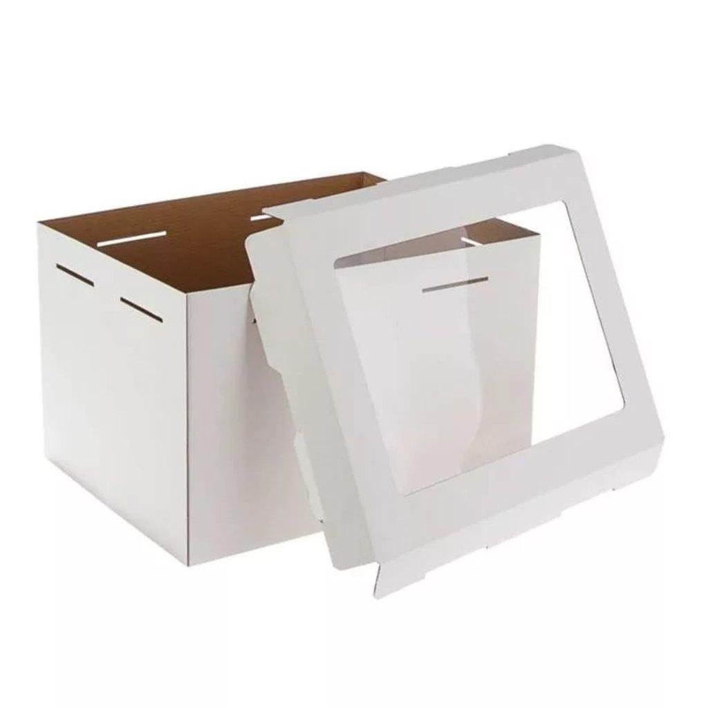 Коробки для тортов: Короб 300х400х260мм  с окном в ТортExpress