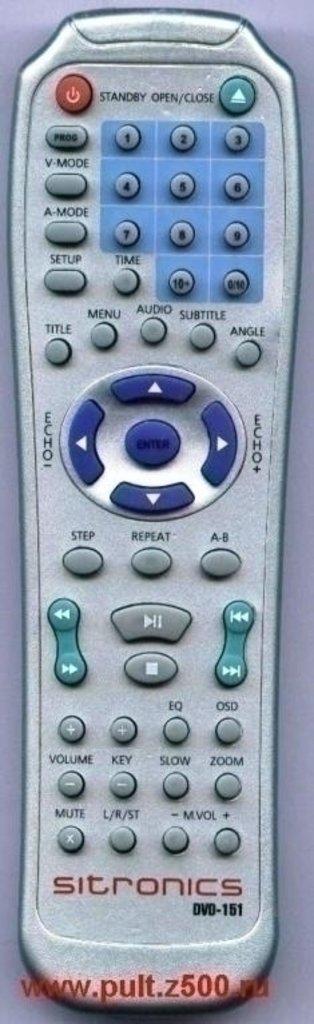 SITRONICS: Пульт SITRONICS DVD-151(DVD)как ориг в A-Центр Пульты ДУ