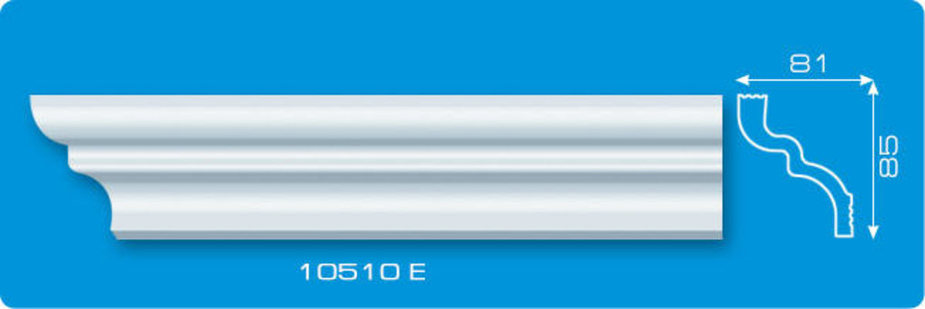 Плинтуса потолочные: Плинтус потолочный ФОРМАТ 10510 Е экструзионный длина 2м в Мир Потолков