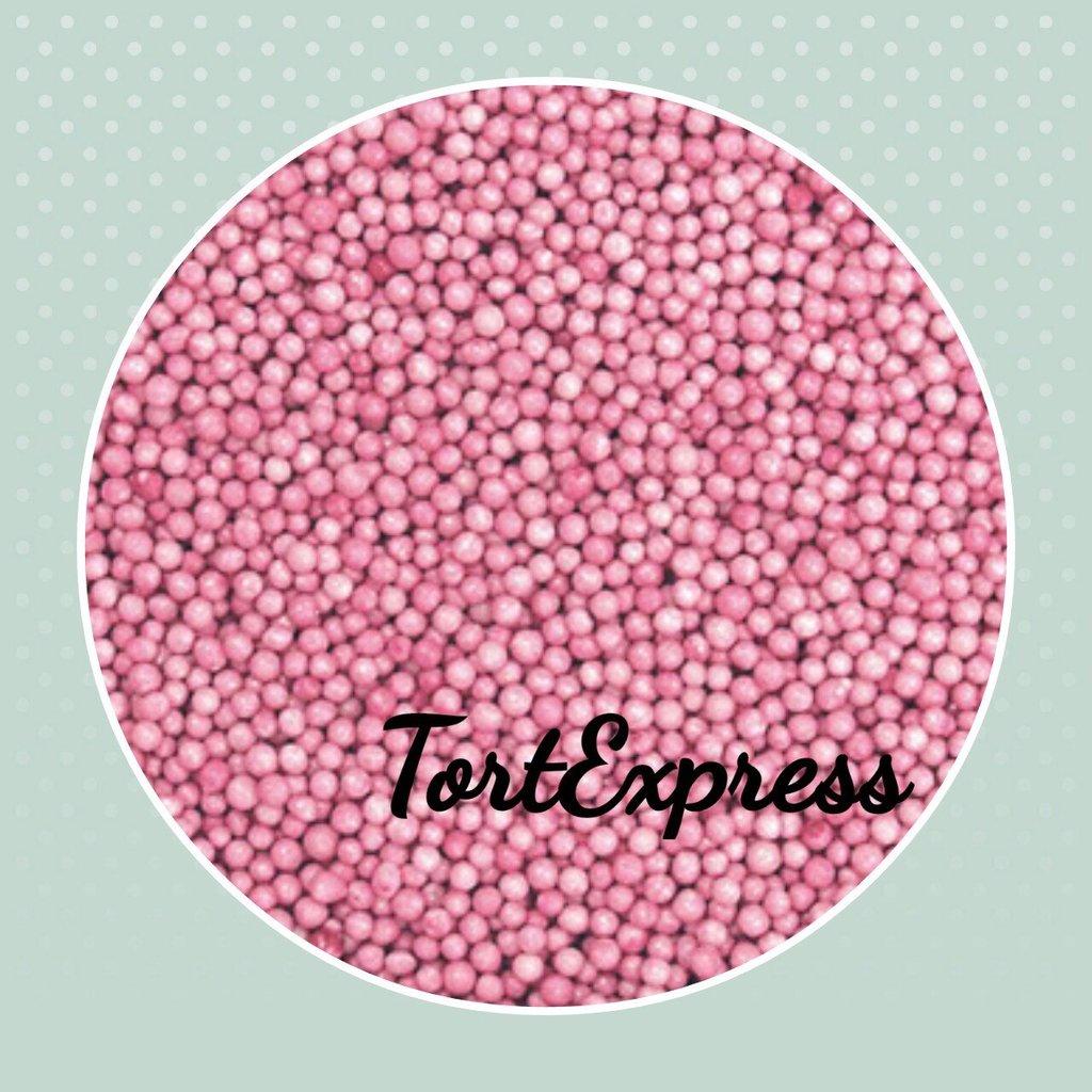 Посыпки декоративные: Шарики розовые 2 мм в ТортExpress