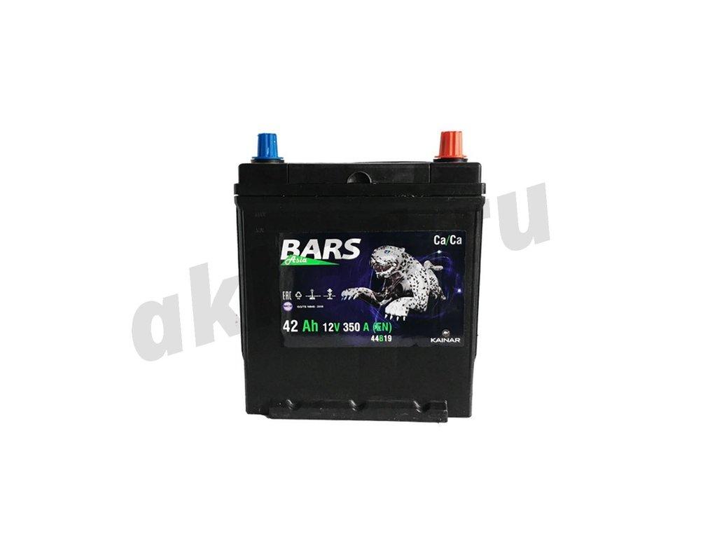 Аккумуляторы: BARS 42 А/ч Обратный Нижнее крепление в Планета АКБ
