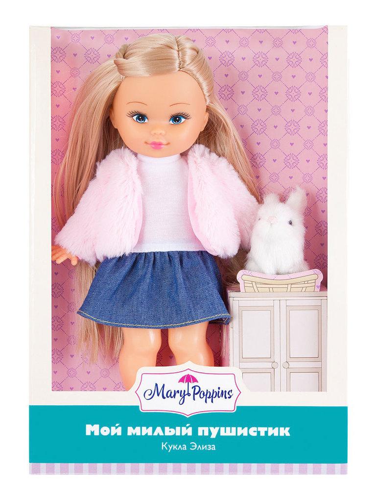 Игрушки для девочек: Кукла Элиза Мой милый пушистик, 26см, зайка Mary Poppins в Игрушки Сити