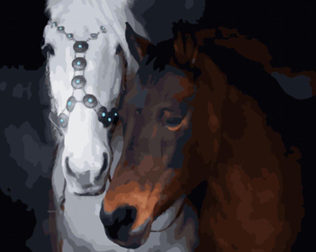 Картины по номерам: Картина по номерам Paintboy 40*50 Пара лошадей Экслюзив! ОК10068 в Шедевр, художественный салон