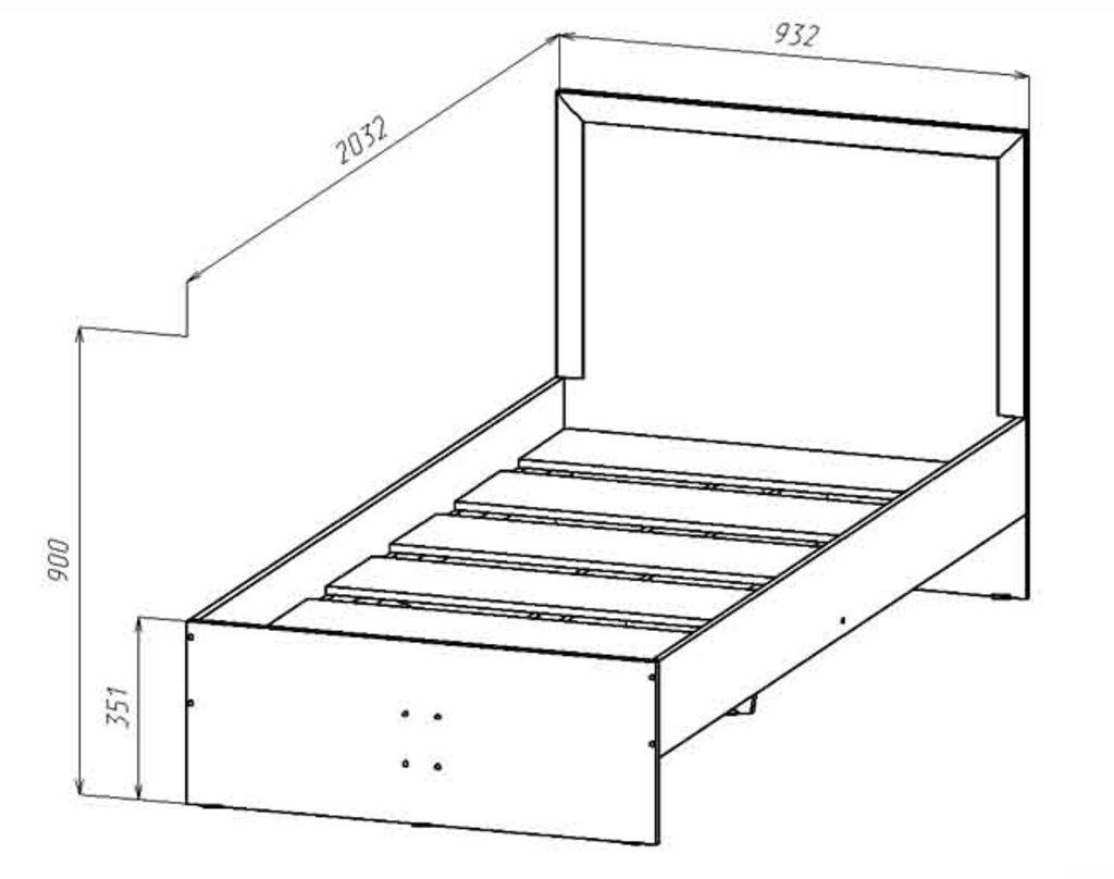 Кровати: Кровать 900 серия Соната в Стильная мебель