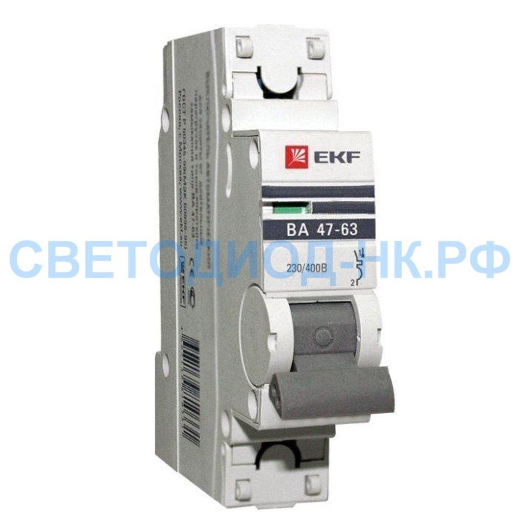 Выключатели, автоматы: Выключатель автоматический EKF ВА 47-63 1Р 25А/С/ PROxima (с опломбировкой) в СВЕТОВОД