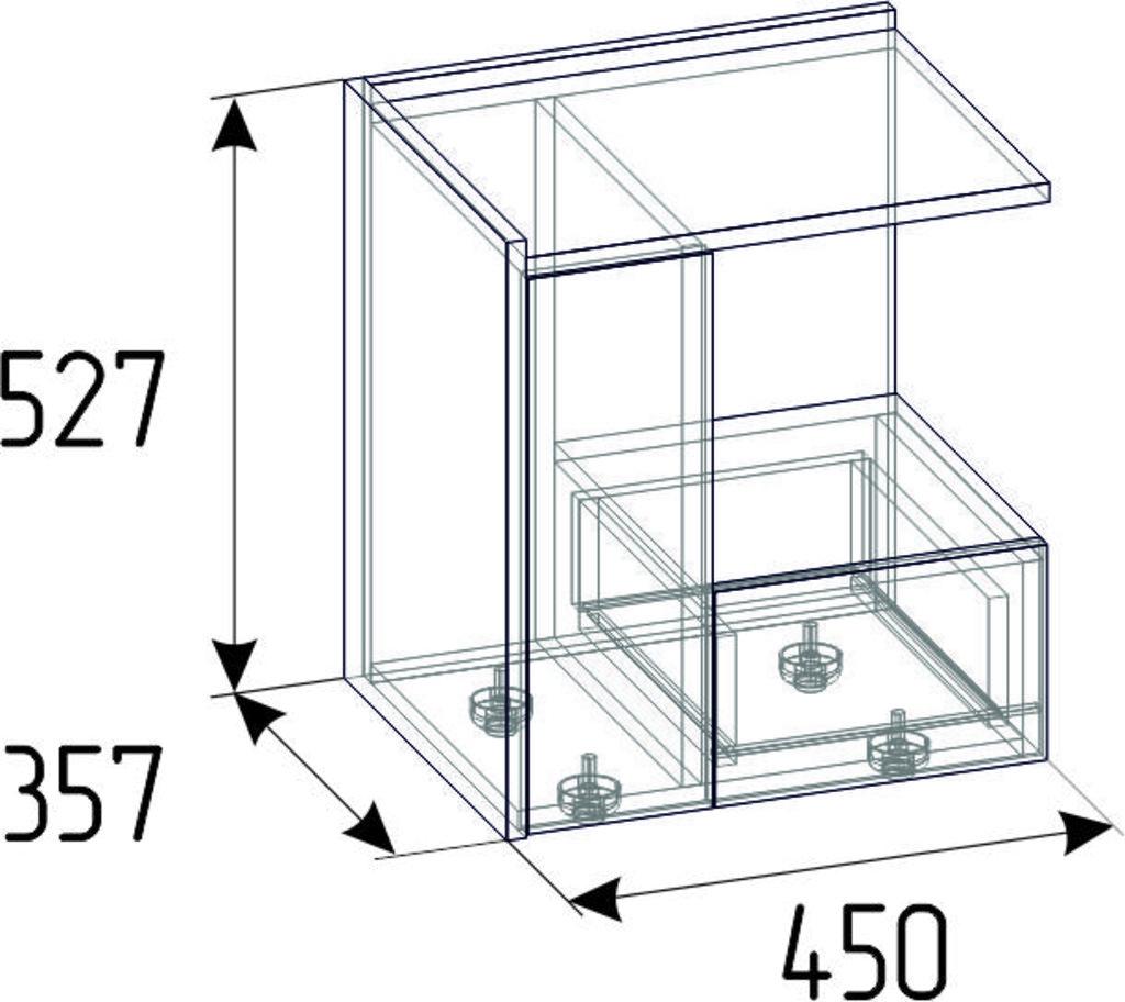 Прикроватные тумбочки: Тумба прикроватная Nature 42 в Стильная мебель