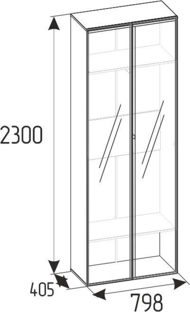 Детские шкафы и стеллажи: Шкаф для одежды Nature 92 (Зеркало Контур+Зеркало Контур) в Стильная мебель