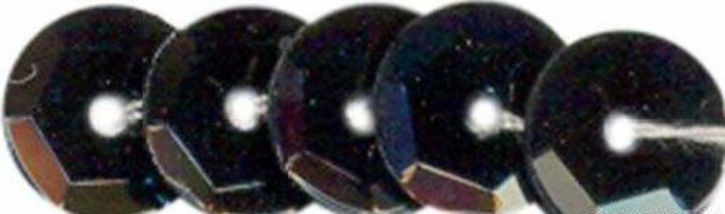 Граненые 6мм.: Пайетки граненые 6мм.,упак/10гр.Астра(цвет:0109 черный матовый) в Редиант-НК