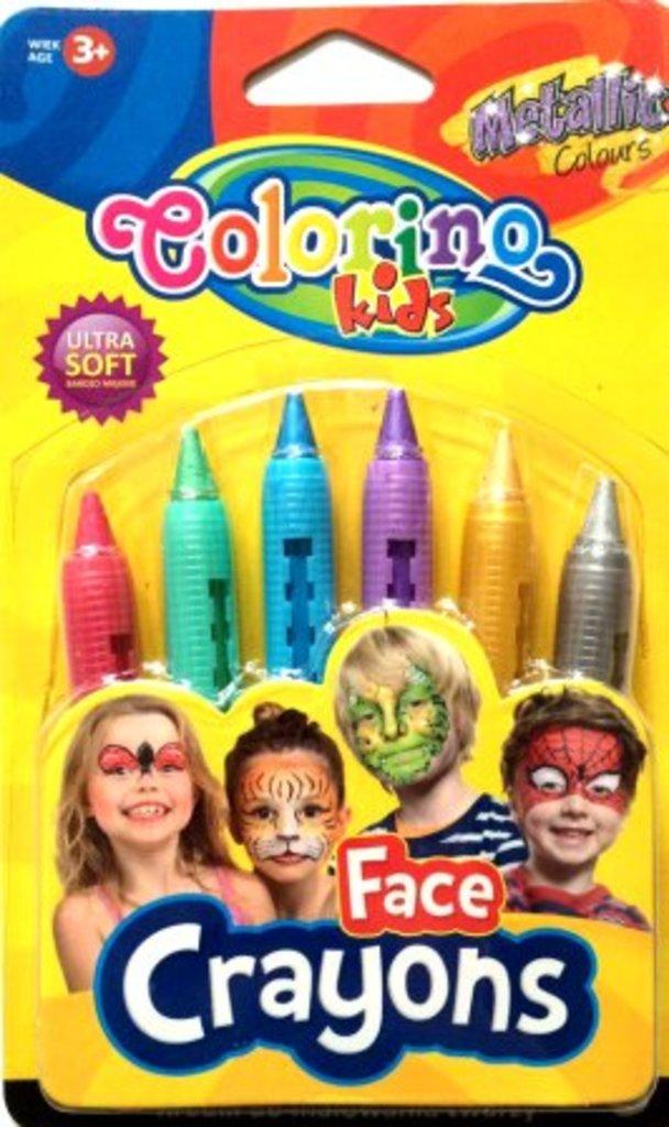 Краски для лица и тела: Мелки для грима 6цв. металлические в блистере в Шедевр, художественный салон