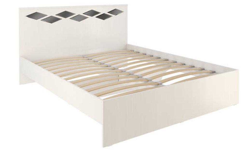 Кровати: Кровать Диана 2 (1600, орт. осн., металл) в Стильная мебель