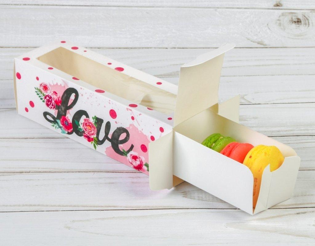 Упаковка: Коробка для макарун Love в ТортExpress