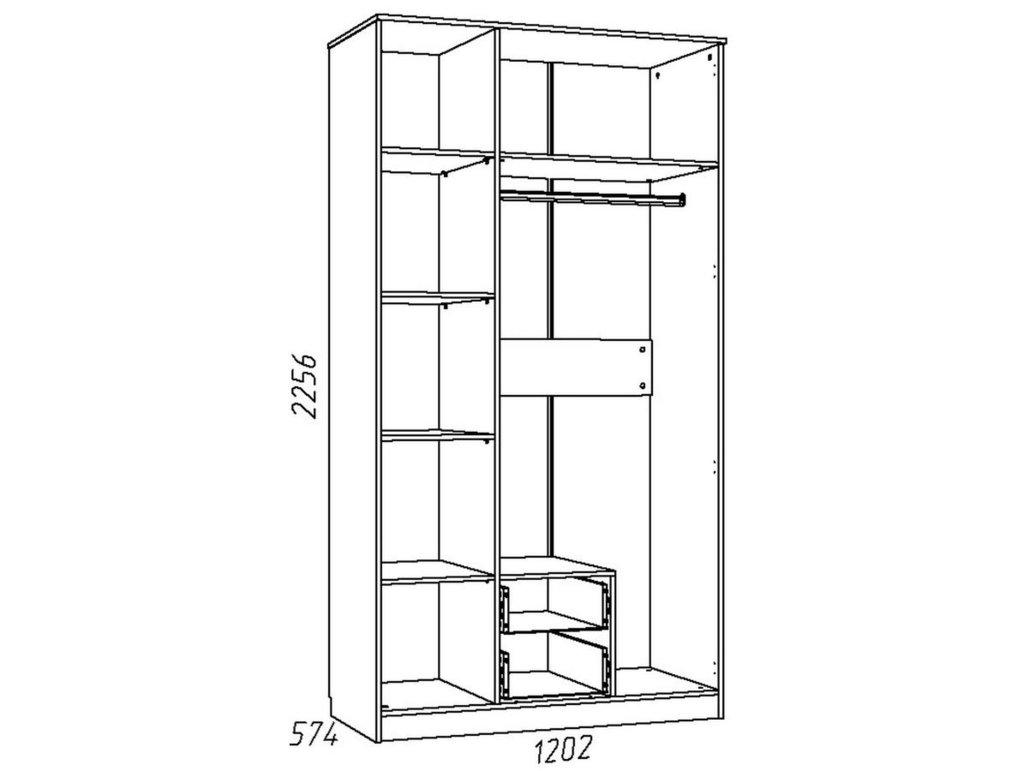 Детские шкафы и стеллажи: Шкаф комбинированный НМ 013.08-01 М Акварель в Стильная мебель