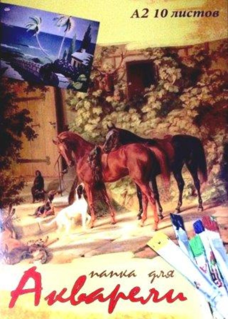 Бумага для акварели: Папка для акварели А2 10л 102944 Проф-Пресс в Шедевр, художественный салон