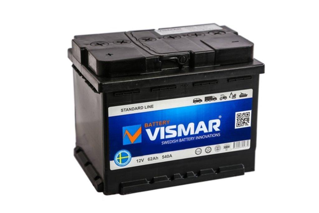 Vismar: Аккумулятор VISMAR 6СТ-62 в БазаАКБ