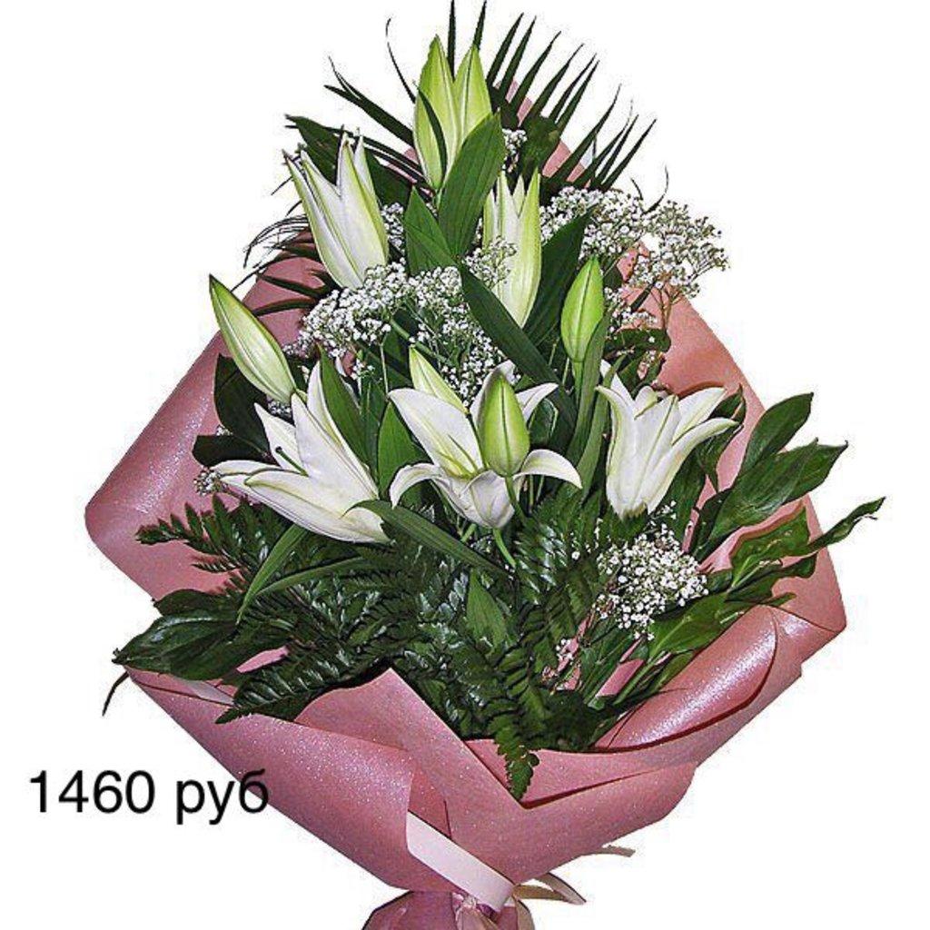 Букеты: Букет из живых цветов, лилии в Николь, магазины цветов