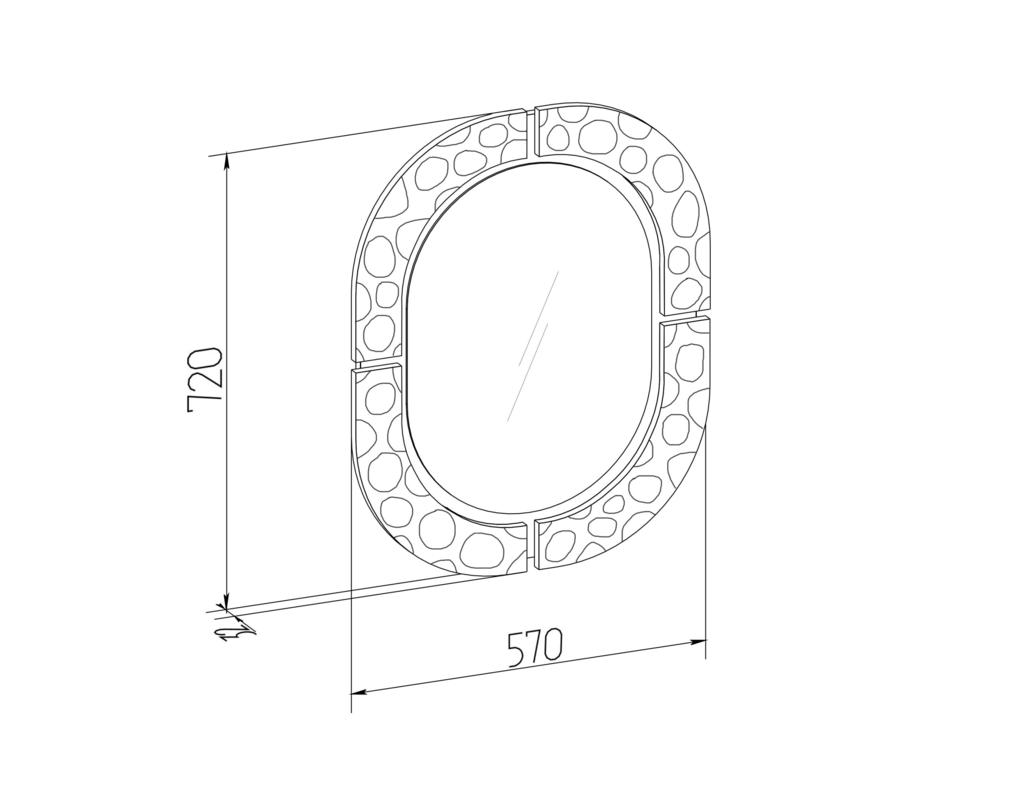 Зеркала, общее: Зеркало навесное WYSPAA 20 в Стильная мебель