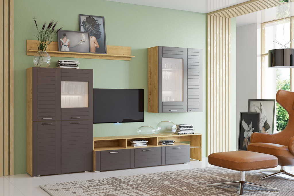 Тумбы и стойки под телевизор и аппаратуру: Тумба ТВА LIVORNO НМ 011.33 в Стильная мебель