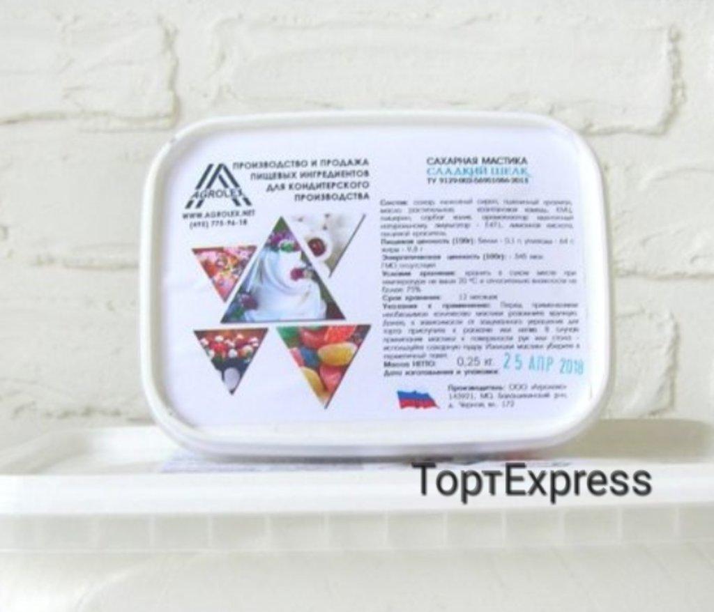 Ингредиенты: Сахарная мастика Сладкий шелк (для обтяжки) в ТортExpress