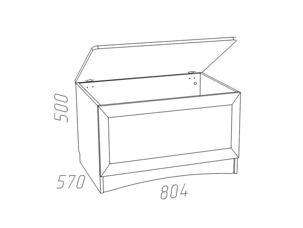 Тумбочки детские: Тумба НМ 011.59 Прованс в Стильная мебель