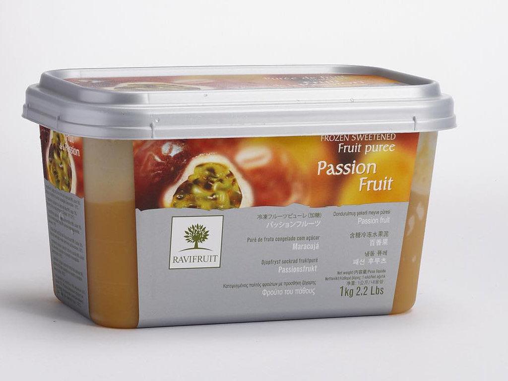 Фруктовое пюре: Пюре из Маракуйи 1 кг RAVIFRUIT в ТортExpress