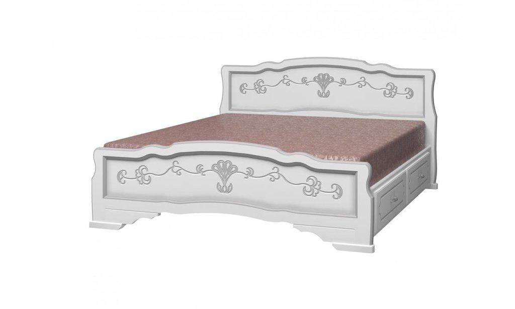 Кровати: Кровать Карина-6 с ящиками (массив) в Уютный дом