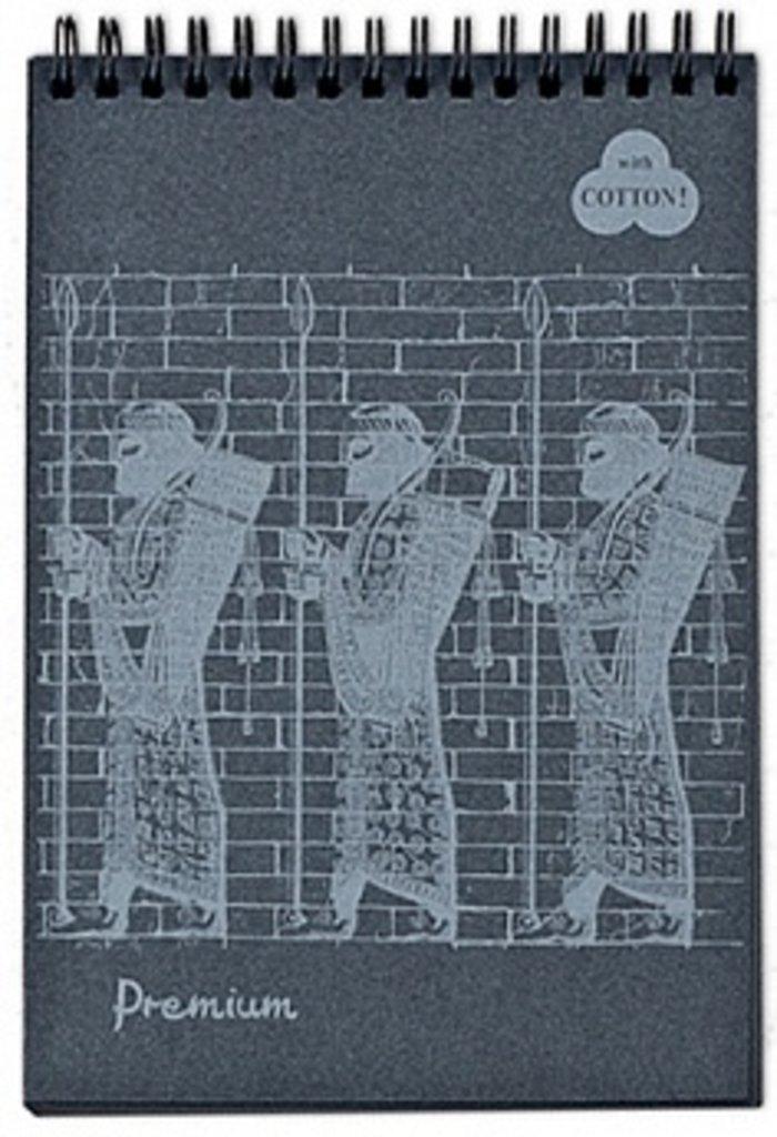 """Альбомы,папки,склейки: Блокнот """"Premium Ground"""" А4, 30л.на пружине (черный) в Шедевр, художественный салон"""