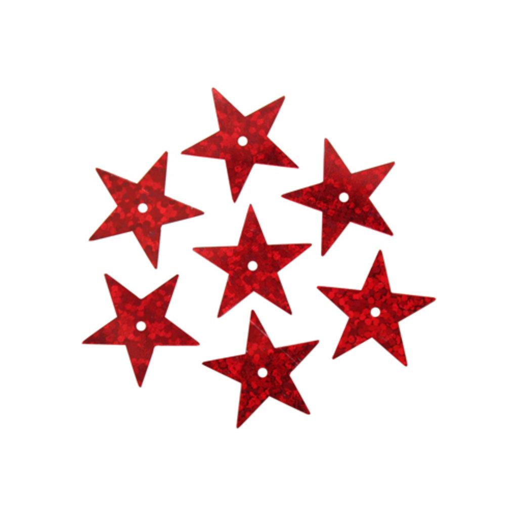 Звездочки: Пайетки звездочки,20мм.,упак/10гр.Астра(цвет:50103 красный голограмма) в Редиант-НК