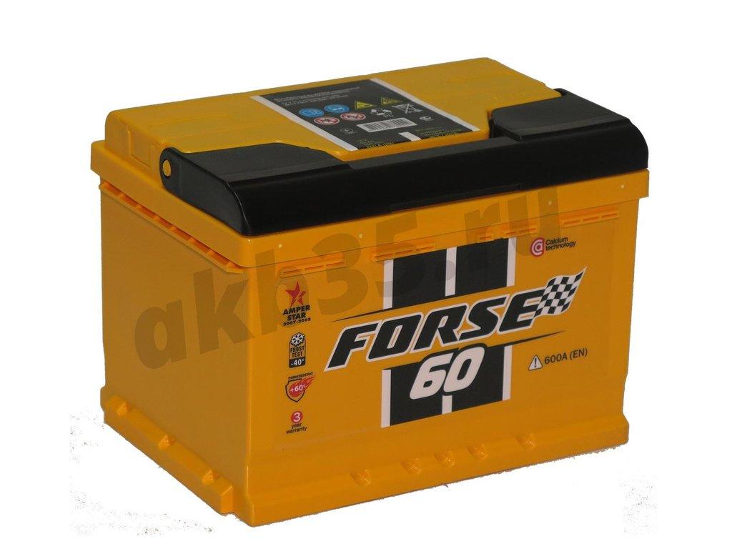 Аккумуляторы: FORSE 6СТ-60 О.П. в Планета АКБ