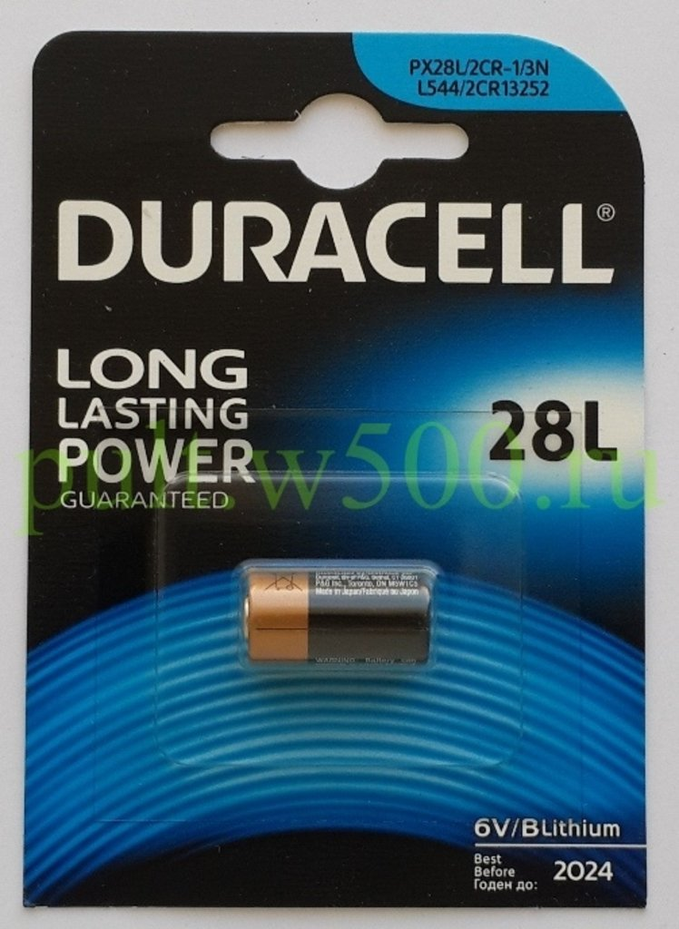 Батарейки.: Батарея 4LR44, 28L, PX28L, 2CR1/3N   6V ( литиевый аналог 476A, V28PX, A544 ) DURACELL (1BL) в A-Центр Пульты ДУ