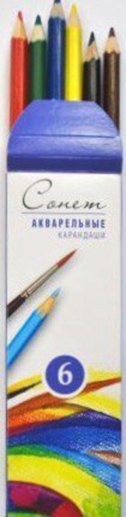 """Акварельные карандаши: Акварельные цветные карандаши """"Сонет"""" 6цв в Шедевр, художественный салон"""