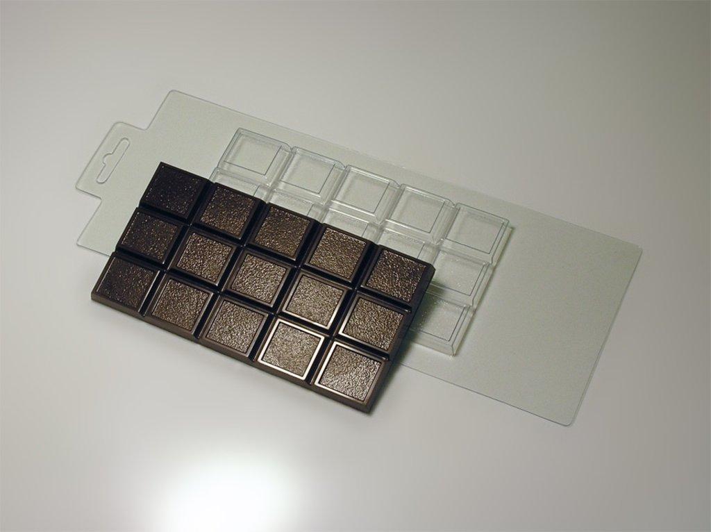 Пластиковые формы для шоколада: Форма для шоколада Плитка Мелкое зерно в ТортExpress