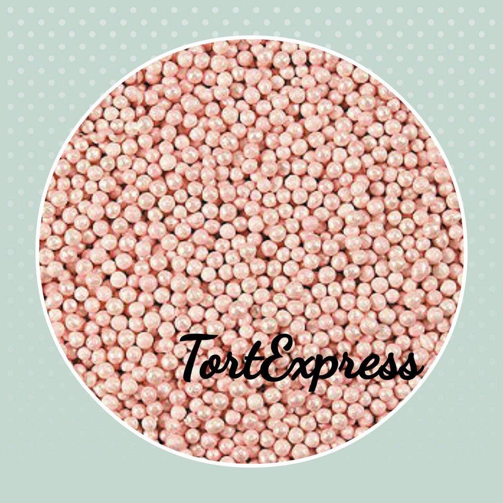 Посыпки декоративные: Шарики Розовые перламутровые (2 мм) в ТортExpress