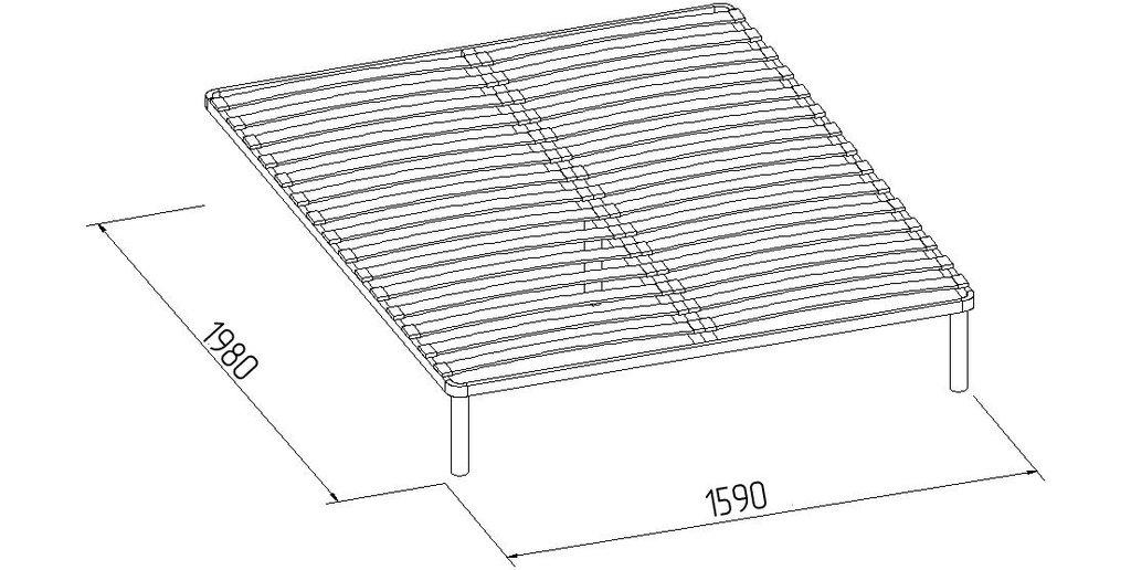 Кровати: Кровать Марсель 32 (1600, орт. осн.  металл) в Стильная мебель
