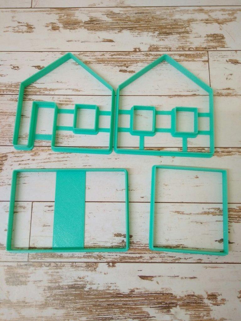 Вырубки 3D: Набор вырубок для пряничного домика (4шт) в ТортExpress
