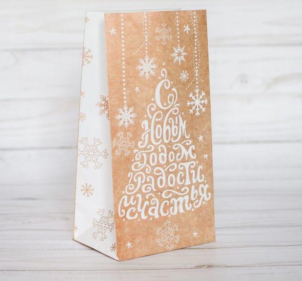 """Упаковка: Пакет подарочный без ручек """"С Новым годом! Радости и счастья!"""" в ТортExpress"""