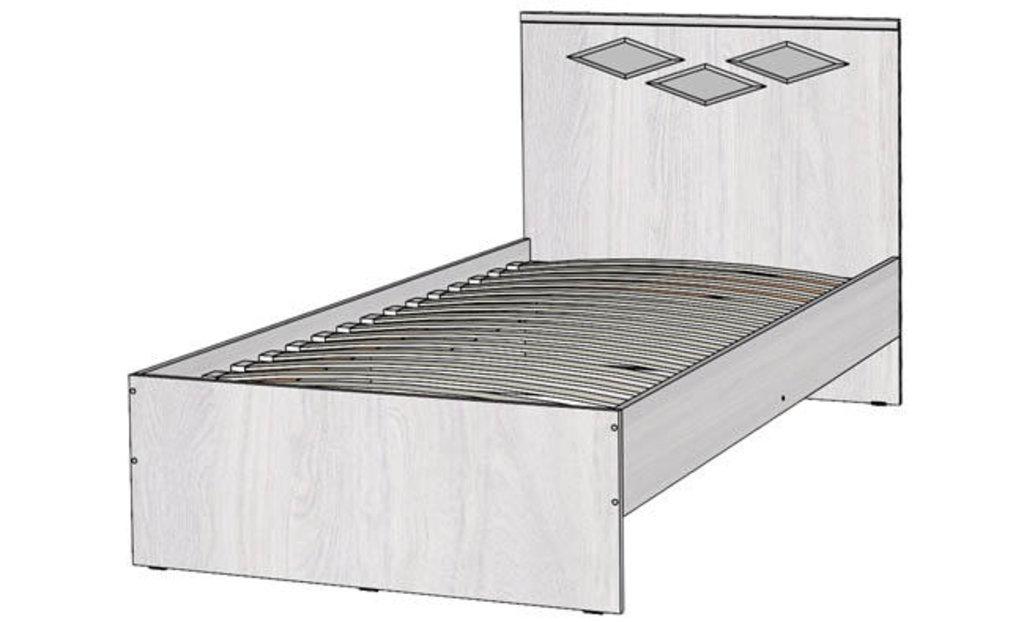 Кровати: Кровать Диана 5 (900, орт. осн., металл) в Стильная мебель