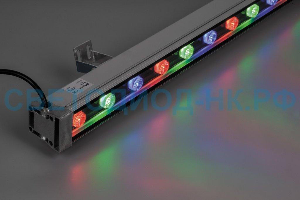 Архитектурные светильники: LL-889 Светодиодный линейный прожектор, 18LED RGB, 1000*46*46mm, 18W 85-265V, IP65 в СВЕТОВОД