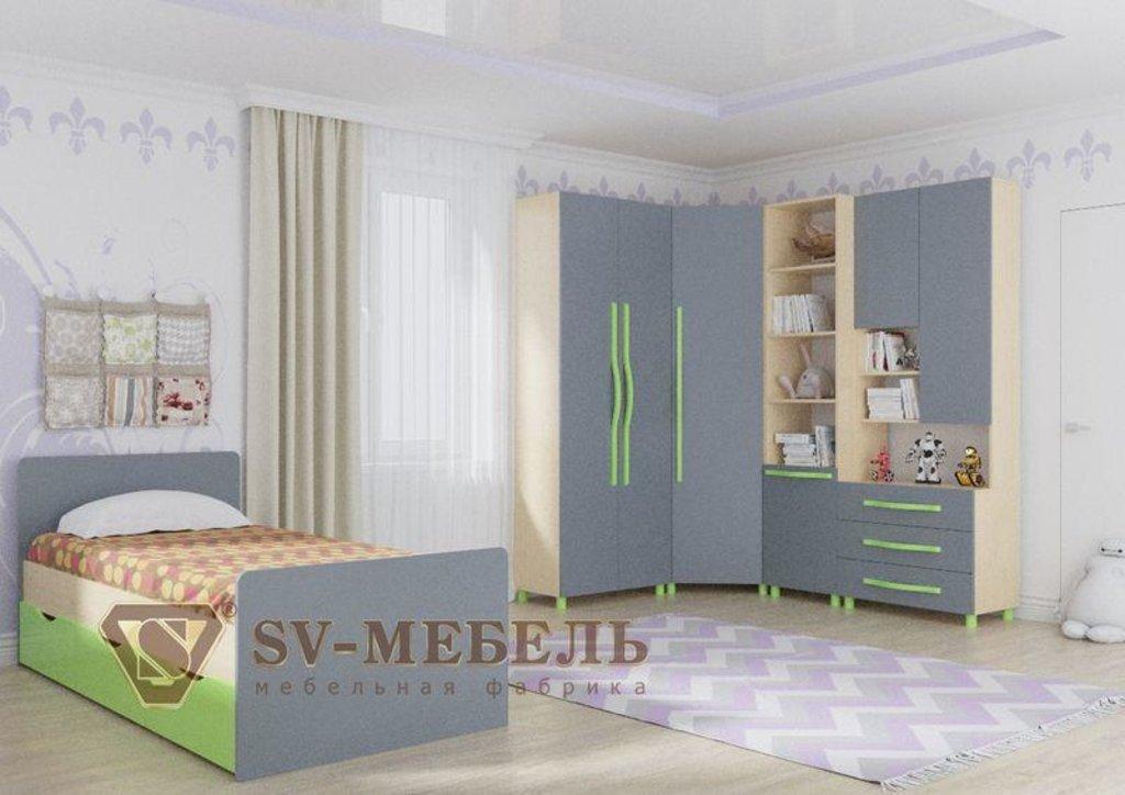 Мебель для детской Алекс-1: Кровать одинарная №1 без ящиков (без матраца 0,9*2,0) Алекс-1 в Диван Плюс