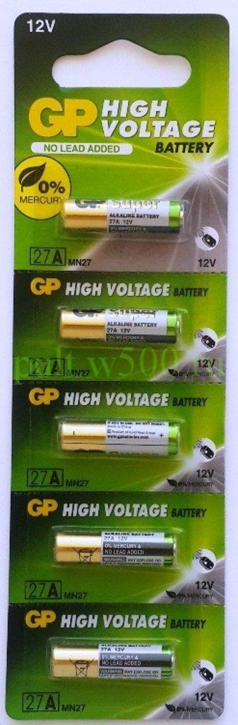 Батарейки.: Батарея A27, 27A, 8LR732, MN27 GP (5BL) в A-Центр Пульты ДУ