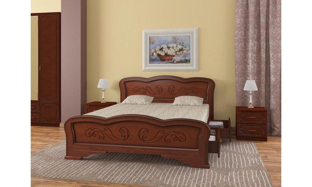 Кровати: Кровать Карина-8 с ящиками (массив) в Уютный дом